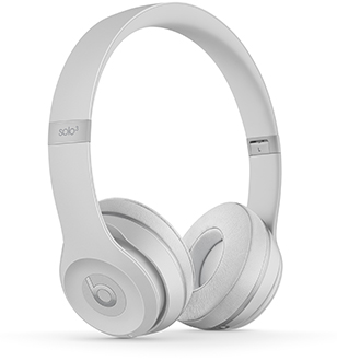 Angled Satin Silver Solo3 Headphones