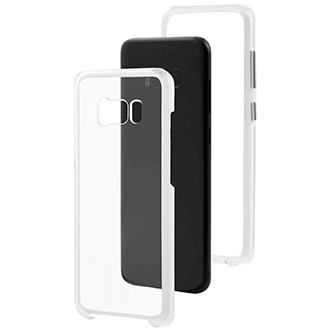 Clear Case-Mate Naked Tough - Samsung Galaxy S8 Case Angled View