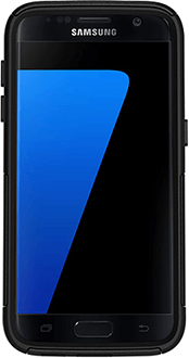 Black OtterBox Galaxy S7 Commuter Case Front View