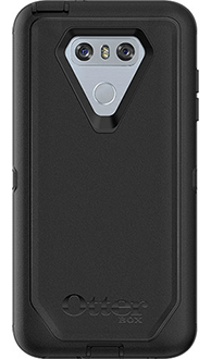 Black Otterbox LG G6 Defender Case Back View
