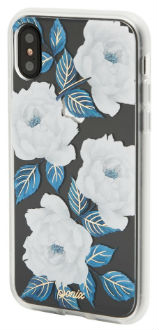 Sapphire Bloom Sonix iPhone X Clear Case Angled View