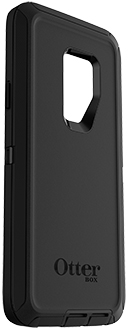 Black OtterBox Galaxy S9+ Defender Case Angled View