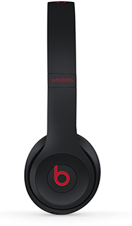 Defiant Black-Red Solo3 Headphones Side