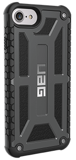 Graphite UAG Monarch - iPhone 6/6s/7/8 Case Angled View