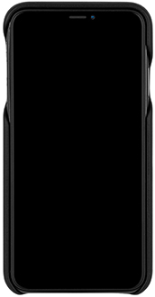 Étui Barely There Leather noir de Case-Mate pour iPhone XR – vue avant