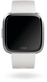 White Fitbit Versa Lite Watch Front