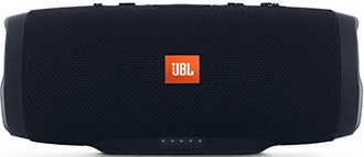 Black JBL Charge 3 Speaker Front View