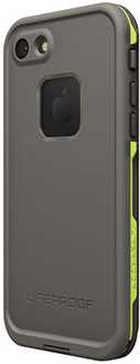 Dark Grey/Slate Grey/Lime LifeProof FRĒ iPhone 7 Case Angled Back View