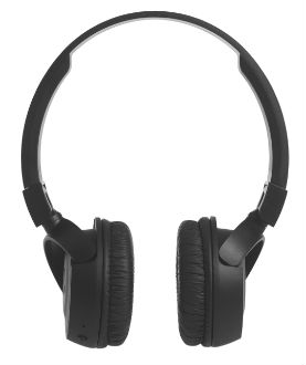 Black T450 On-Ear Wireless Headphones Front View