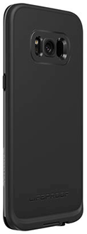 Black/Dark Grey LifeProof FRĒ Galaxy S8 Case Angled Back View