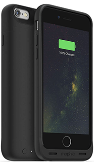 Black Mophie Juice Pack Wireless - Apple iPhone 6/6S 2