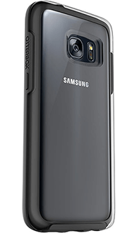 Black OtterBox Galaxy S7 Symmetry Clear Case Angled Back View