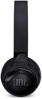 Black JBL TUNE600BTNC Headphones Side