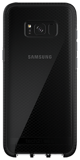 Smokey/Black Tech 21 Evo Check - Samsung Galaxy S8 Plus Case Back View