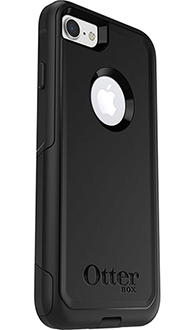 Black Otterbox iPhone 7 Commuter Case Angled Back View