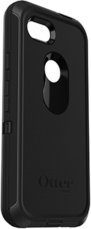 Black OtterBox Pixel 3a Defender Case Angled View