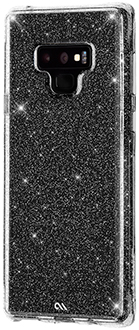 Angled Glitter Case-Mate Sheer Crystal Galaxy Note9 Case