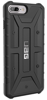 Black UAG Pathfinder - iPhone 6 Plus/6s Plus/7 Plus/8 Plus Case Angled View