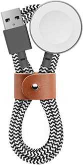 Zebra Native Union BELT Watch Cable Wrapped Up With Leather Strap