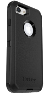 Black Otterbox iPhone 8 Defender Case Angled Back View