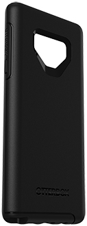 Angled Black OtterBox Galaxy Note9 Symmetry Case