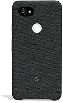 Carbon Google Fabric Case (Pixel 2 XL) Back View