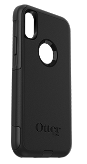 Black OtterBox iPhone X/Xs Commuter Case Angled View
