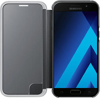 Black Samsung Clear View Cover - Galaxy A5