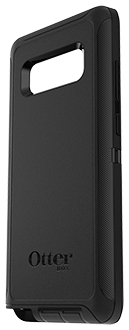 Black Otterbox Galaxy Note8 Defender Case Angled Back View