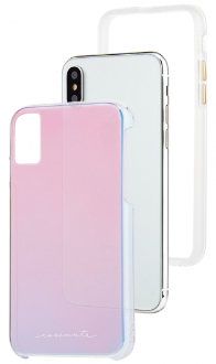 Iridescent Case-Mate Naked Tough - iPhone X Case Front View