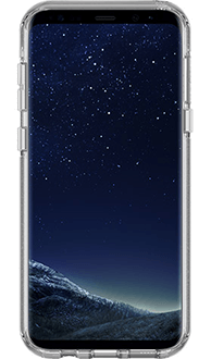 Silver Flake Otterbox Galaxy S8 Plus Symmetry Case Front View