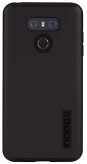 Black/Black Incipio DualPro - LG G6 Case Back View