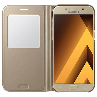 Gold Samsung S View Standing Cover - Galaxy A5