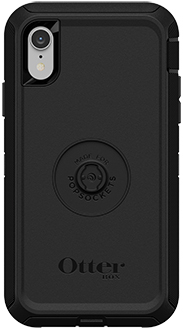 Black Otter + Pop Defender iPhone XR Case with Pop Top Removed