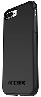 Black Otterbox iPhone 7 Plus/8 Plus Symmetry Case Angled Back View