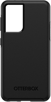 Black OtterBox Galaxy S21+ 5G Symmetry Case from the Back
