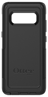 Black Otterbox Galaxy Note8 Commuter Case Back View