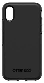 Black OtterBox iPhone X/Xs Symmetry Case Back