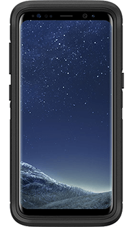 Black Otterbox Galaxy S8 Defender Case Front View