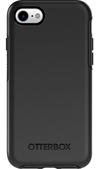 Black Otterbox iPhone 7 Symmetry Case Back View