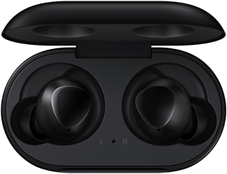 Black Samsung Galaxy Buds in Charging Case