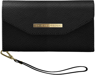Black iDeal of Sweden Mayfair Clutch iPhone X/Xs Wallet Case Front