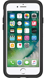 Black Otterbox iPhone 7 Symmetry Case Front View