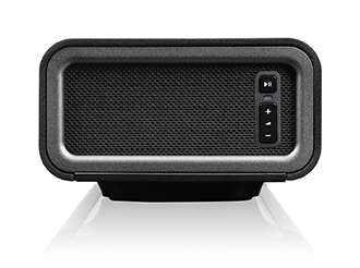 Black Sonos PLAYBAR Speaker Side View