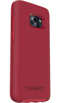 Flame Red OtterBox Galaxy S7 Symmetry Case Angled Back View