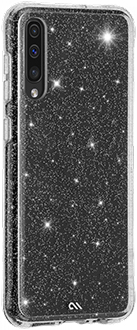 Angled Glitter Case-Mate Sheer Crystal Galaxy A70 Case