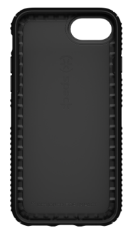 Black/Black Speck Presidio Grip - Apple iPhone 6/6s/7/8 Case Front View