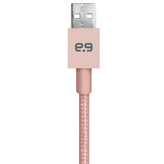 Rose Gold PureGear Braided Metallic Charge and Sync Cable for Lightning Devices (4ft) 3