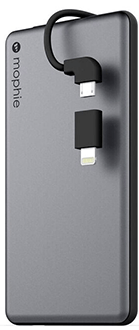 Space Grey Mophie Powerstation Plus Mini (4,000mAh) - Front View