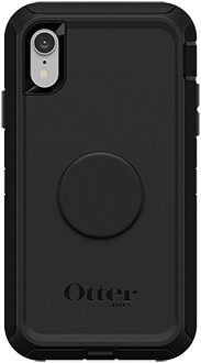 Black Otter + Pop Defender iPhone XR Case Back